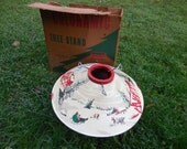 Vintage 1950's Coloramic Christmas Tree Stand #398