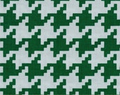 Fat Quarter Christmas Fabric for quilt or craft Michael Miller Everyday Houndstooth in Spearmint Fat Quarter