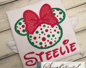 Christmas Minnie Inspired Shirt - You Customize