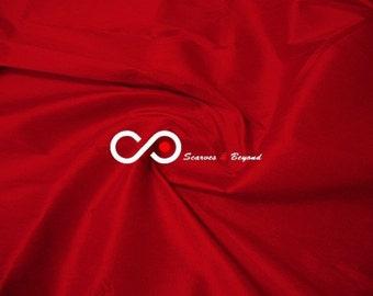 Silk Taffeta Fabric - Venetian red T370 - Section Red - 1 yard 100% Silk taffeta