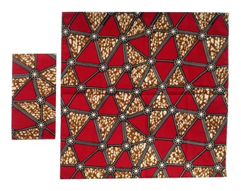 RED DELTA African Wax Print Cloth Napkins Set of 4