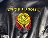 Vintage new leather Cirque Du Soleil cast member jacket size small from Danier Canada cafe racer craftsmanship