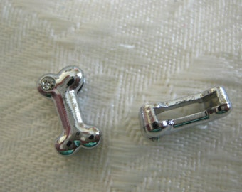 Slide charms for 8 mm wristbands.  You can design your own style Dog bone with Rhinestone