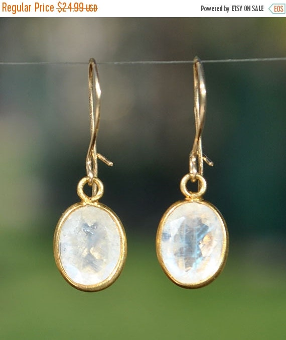 SALE Rainbow Moonstone Earrings - June Birthstone Jewelry ...