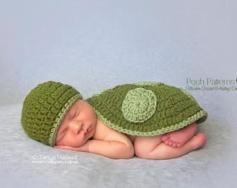 Crochet PATTERN - Baby Crochet Pattern - Newborn Turtle Hat Shell Pattern Set - Crochet Patterns for Boys - Crochet Patterns - PDF 160