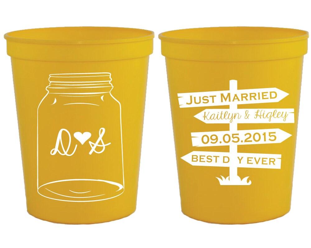 Wedding Cups Mason Jar Wedding Cups Rustic Party Cups