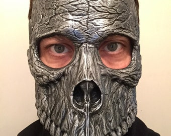 Bauta Skull Mask - Antique Pewter
