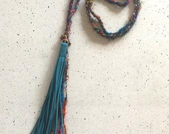 The Sari Tassel Necklace