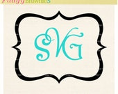 SALE svg Bracket square monogram frames,Wedding frame design clip art, Frames Monogram Cuttable Designs DXF, EPS, Cricut, silhouette studio