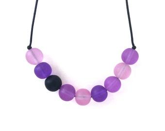 Nursing Necklace - Babywearing Necklace - Boules - Colour Splash - Purple and Aqua
