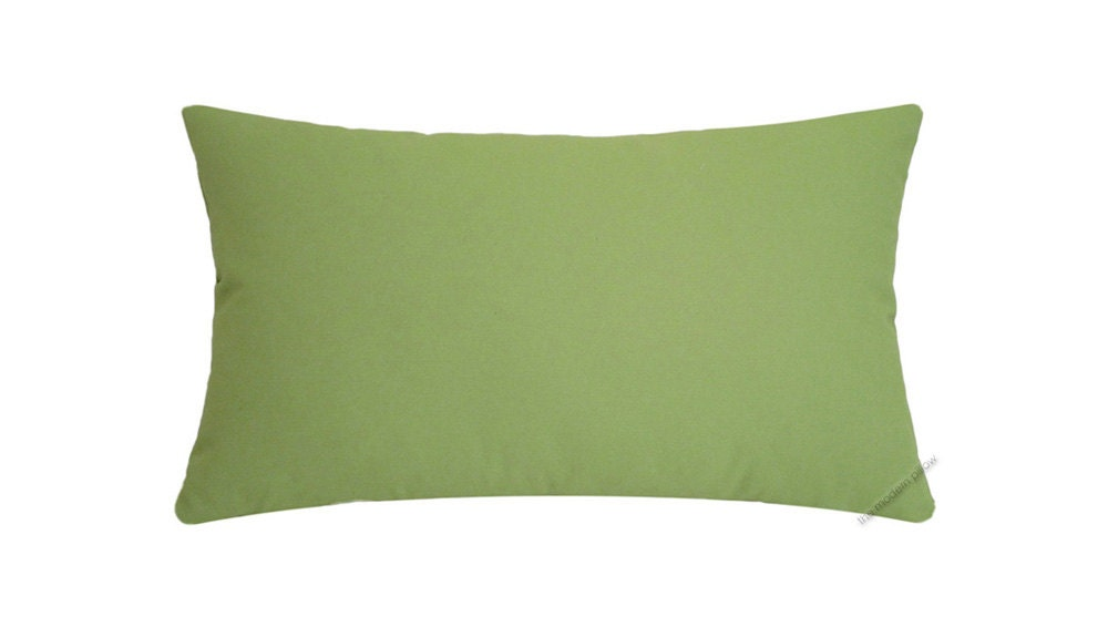 Solid Decorative Throw Pillows : Avocado Green Solid Decorative Throw Pillow Cover / Pillow