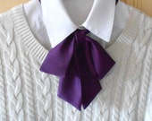 Burgundy Bow Tie Scarf / Neck Accessory / Necktie Ascot Scarf