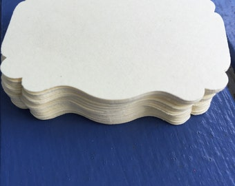 60 Small Labels/Tags - non adhesive (Ivory)