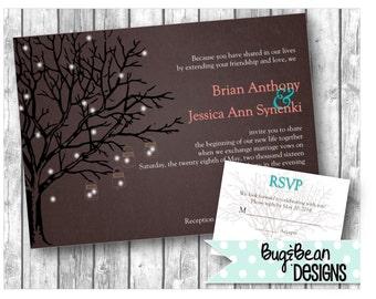Firefly Wedding Invitation & Response Card