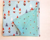 Cotton Napkins Reversible Elf Gnome and Dot