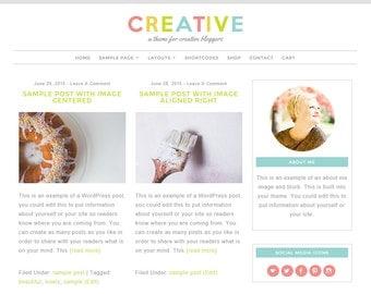 Creative: Feminine WordPress Theme Built for Beginner and Intermediate Bloggers