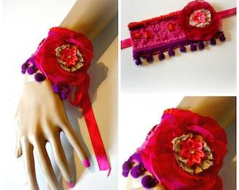 handmade burlesque cuffs,  lolita ,pin up ONE PIECES