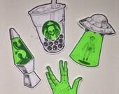 Groovy Alien stickers Series 2