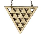 BAEZA | long triangle necklace