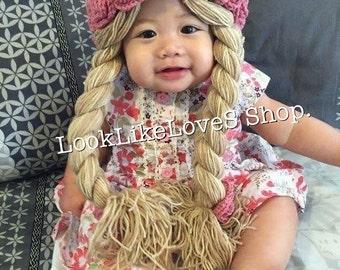 Flowers hair wig crochet 3-24m