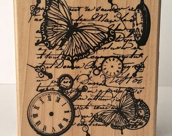 Time Flies Mounted Rubber Stamping Block DIY cards, scrapbooking, tags, Greeting Cards, and Scrapbooking by Inkadinkado