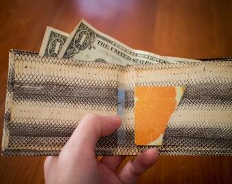 Genuine Snake Skin Bi-fold Wallet