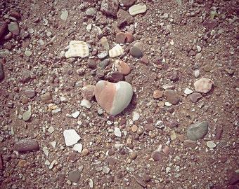Pebble Heart 30x40cm Art Print photography poster seaside love gift
