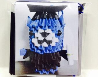 3D origami Graduation Bear  Kit