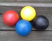 Vintage Croquet Balls - Set of 4