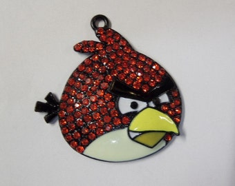 49mm*39mm Angry Birds Inspired Rhinestone Pendant