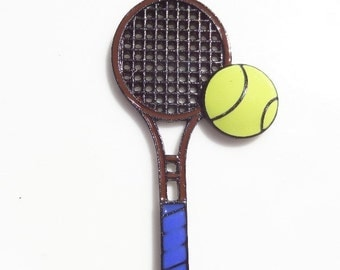 SALE! 53mm*28mm Tennis Raquet and Ball Pendant, P47