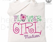 Flower Girl Bag - Personalized Flower Girl Tote bag - Flower Girl Gift