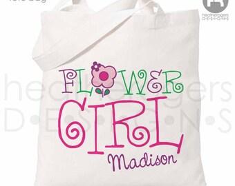 Flower Girl Bag - Personalized Flower Girl Tote bag - Flower Girl Gift
