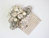 Hair Comb Wedding, handmade with Vintage Jewelry, Jeweled Hair Comb, Wedding Jewelry, Hair Comb Vintage, Headpiece, Hair Jewellery