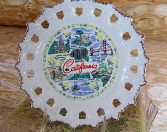 California Decor Plate Souvenir