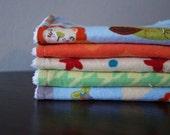 Boy Washcloths - Baby Boy Wash Cloths - Washcloth Set - Planes - Blue - Green - Orange - Airplane Nursery - Airplane Baby Gift