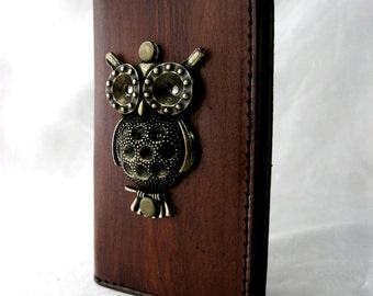 Card holder handmade Luxry brown vegetable cow leather book style