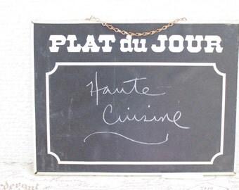 Vintage French Chalkboard - Blackboard Restaurant