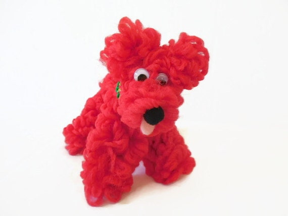 Holiday Red Schnauzer / Terrier Chenille Dog