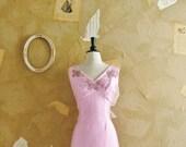 Vintage 1960s Pink Beaded Cocktail Dress - We'll Alaways Have Vegas-