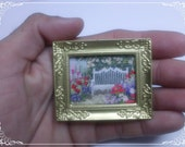 Garden Bench, Cross Stitch, miniature, dollHouse