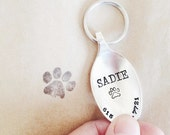 Dog Tag - Silver Plated Vintage Repurposed Spoon - Custom Dog Tag - Original Design by forsuchatimedesigns