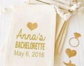 Custom Party Favor Bag, Custom tote bag, Bachelorette party, Birdesmaid Proposal Gift bag,  Wedding day Survival Kit, Bridal Shower, gift