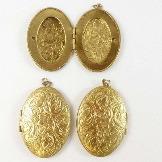 Vintage Brass Lockets 36