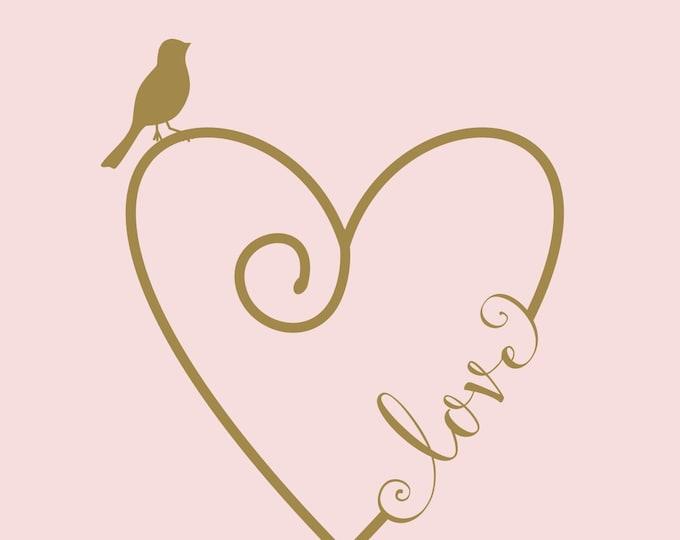 Heart Wall Decal   Love Heart   Heart and Arrow Design   Nursery Decor