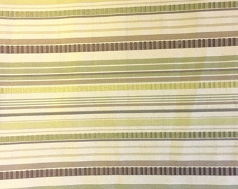 Green and Brown Stripes - Tapestry Weight - Destash Sale - by the Yard (R)
