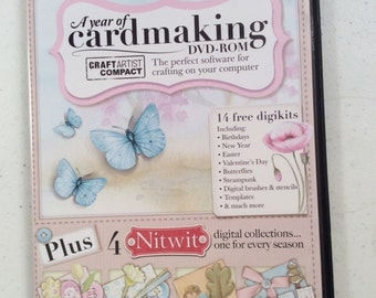 Software, PC-DVD-ROM, Crafting, Computer, Digital, Butterflies, Flowers