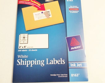 Avery White Shipping Labels, Free Shipping, 2 x 4, 14 sheets, 240 labels, Ink Jet,