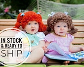Cabbage Patch Crochet Hats  - In Stock and Ready to Ship Hats - Limited sizes, colors, and quantities