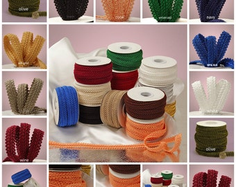Gimp Braid Trim 1/2 inch wide select color price for 1 yard ( not spool)